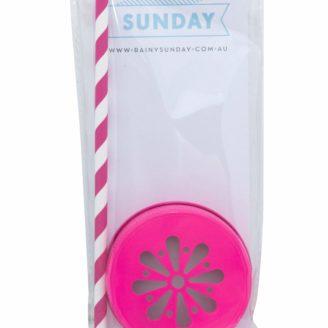 Fluro Prink Mason Jar Lid Packet from Rainy Sunday