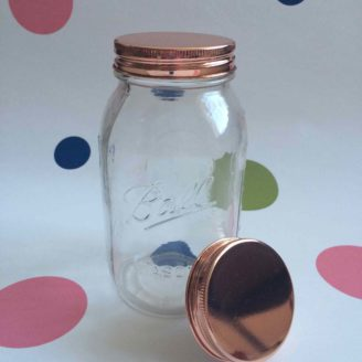1L Copper Lid Storage Jar