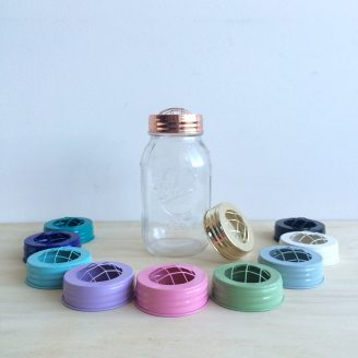 Our flower jar lid colour selection