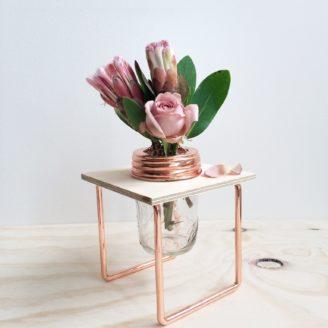 Copper Flower Frame and Jar
