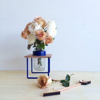 French Blue Flower Frame