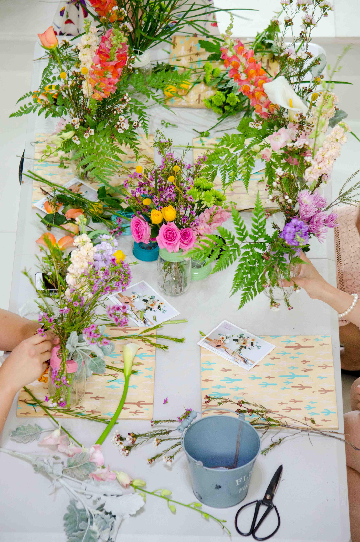 Flower Arranging Workshop with rainy Sunday