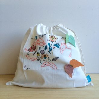 Rainy Sunday Drawstring Bag