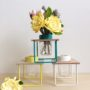 Flower Frames in Yellow, Aqua Marine and Cream