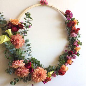 Floral Hoop by Rainy Sunday