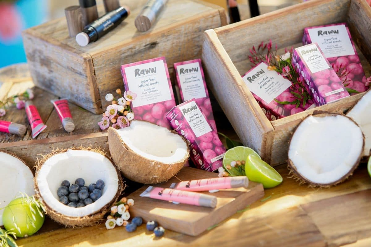Cosmetics product styling with superfoods by stylist Rainy Sunday