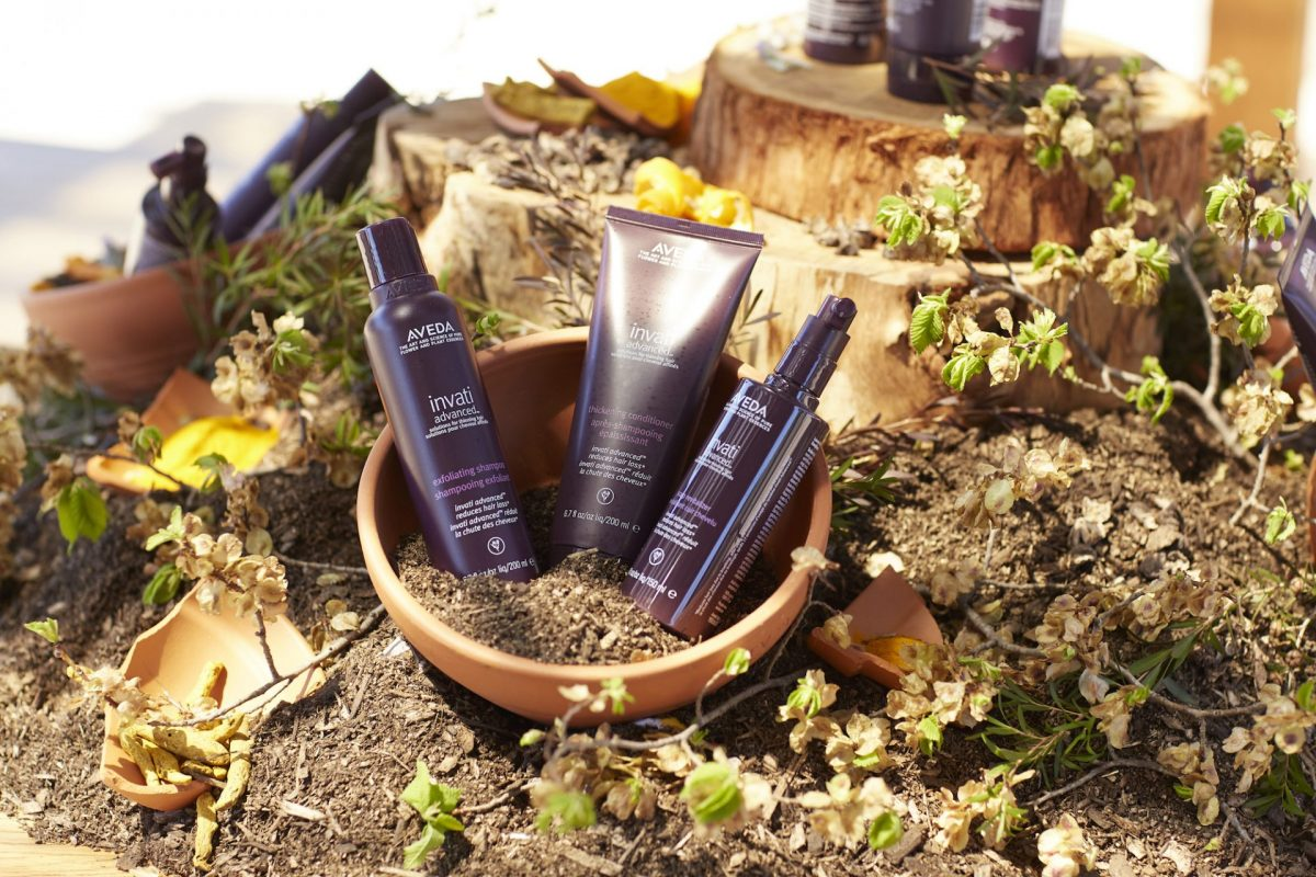 Product styling for hair care brand Aveda by Rainy Sunday