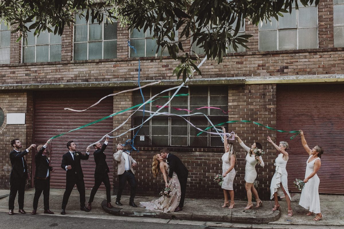 Sydney wedding stylist Rainy Sunday creating a modern wedding celebration at Acre Eatery.