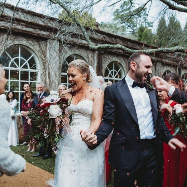 Romantic winter wedding at Milton Park styled by Rainy Sunday