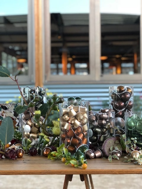 Nespresso sustainable event styling in Sydney
