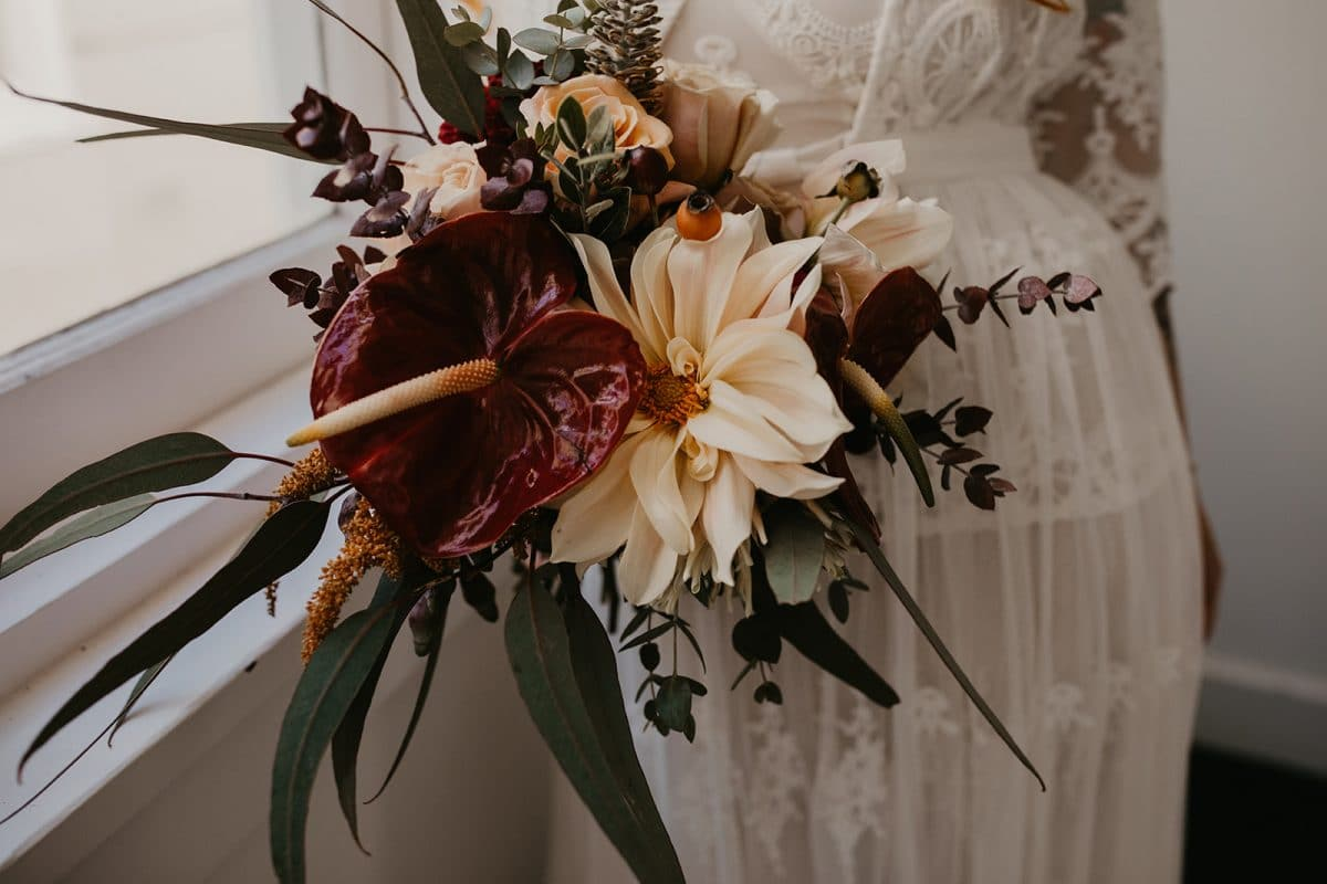Boho style wedding boquet with a rustic twist by Rainy Sunday at Camperdown Commons