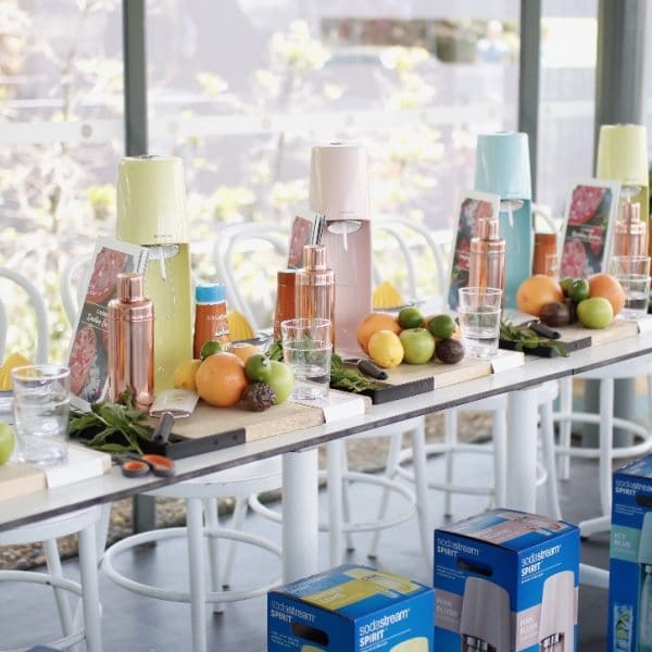 Event design and styling for Sodastream at Poolside Cafe