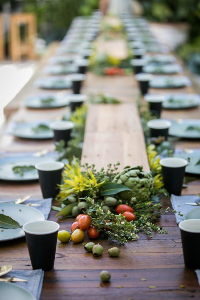 Vegan event styling by stylist Rainy Sunday at La Porte Space Sydney