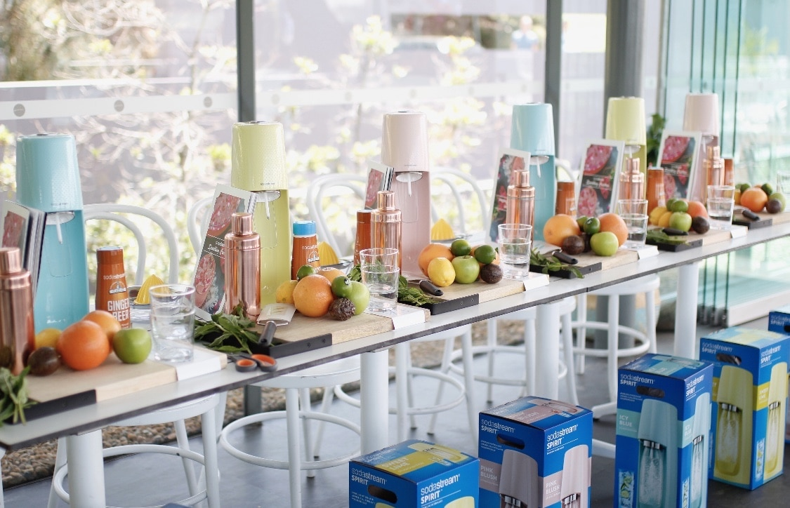 Product launch styling in Sydney at Poolside Cafe