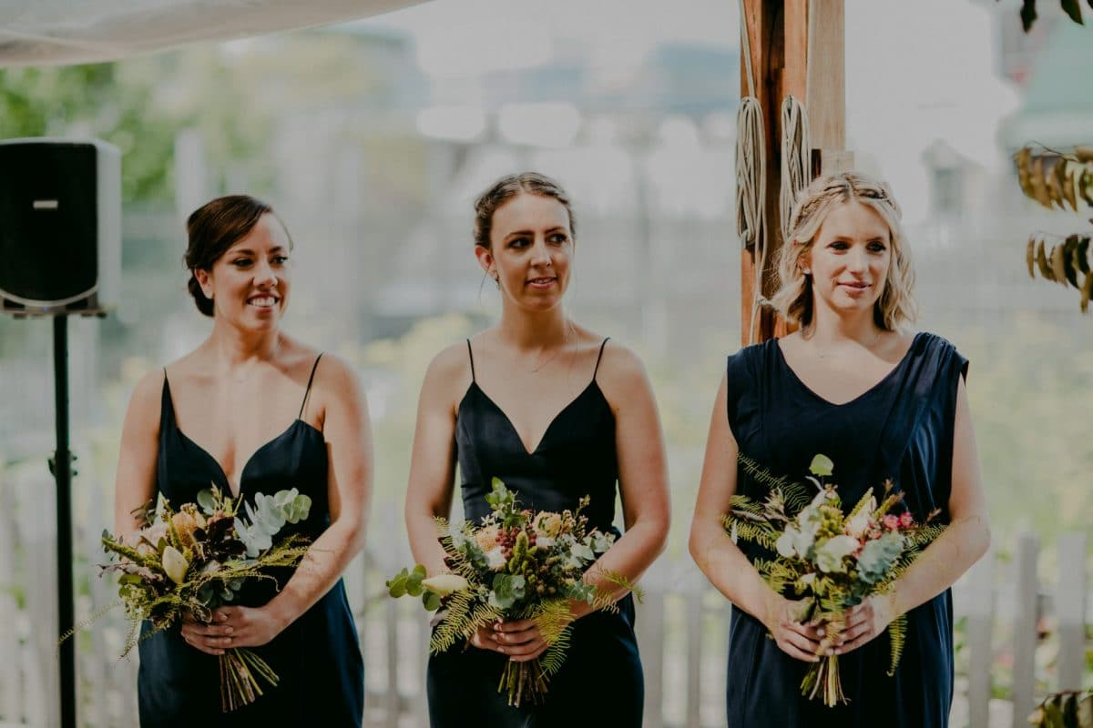 Rustic bridal party flowers by Rainy Sunday