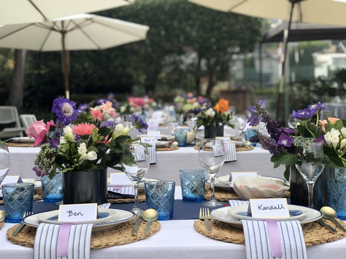 Hamptons tablescape by Rainy Sunday