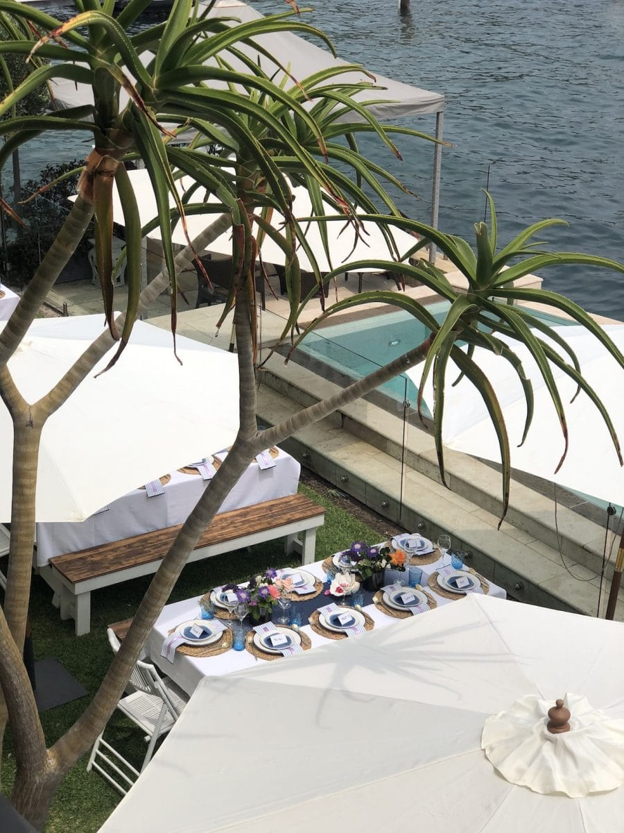 Private party at Point Piper styled by Rainy Sunday