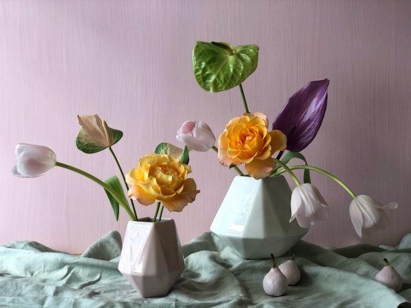 Hire hexagonal Vases