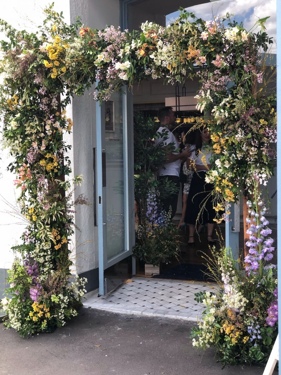 Custom made flower arch at Woolwich Pier Hotel in Sydney
