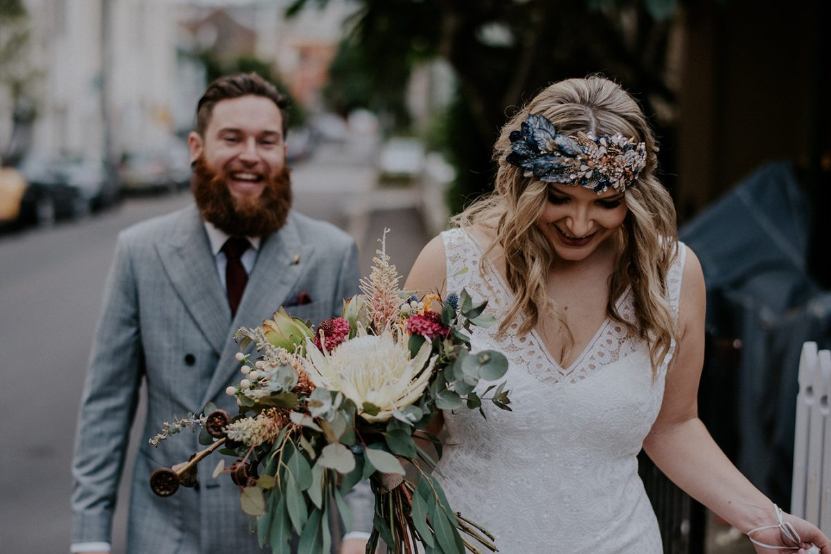 Rustic Wedding Bouquet by Rainy Sunday