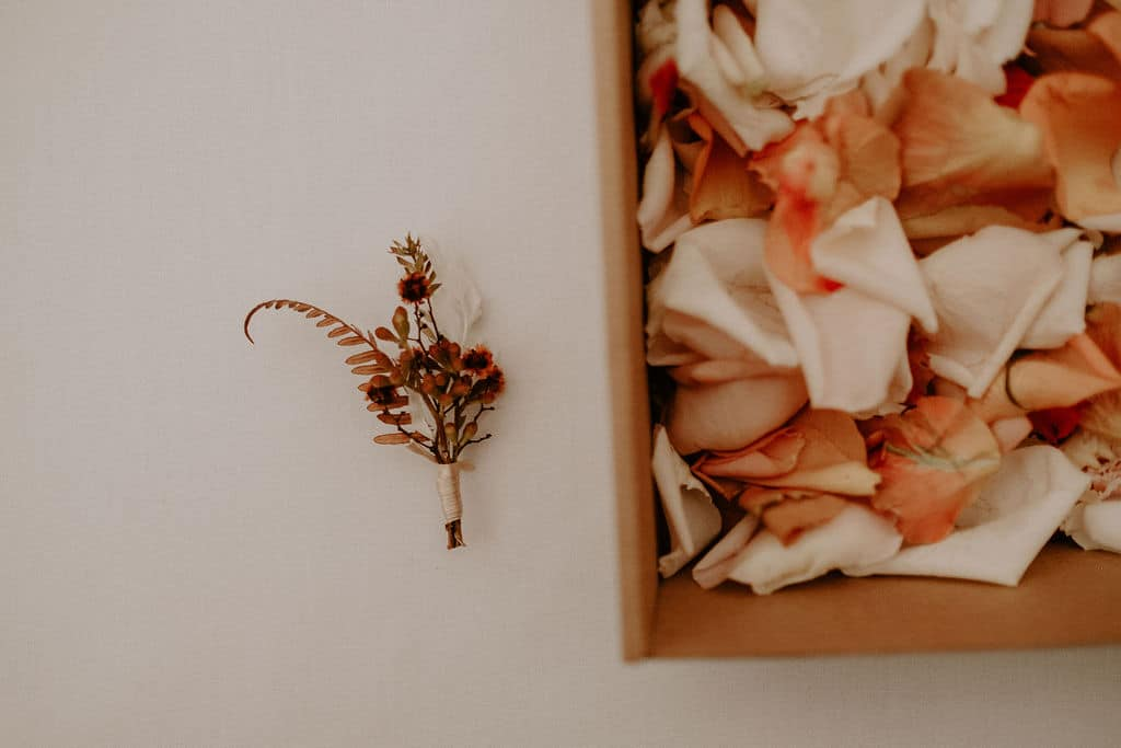 boho wedding buttonhole by Sydney wedding designer Rainy Sunday
