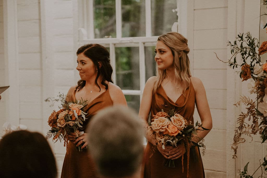 Boho style bridesmaids at Athol Hall in Sydney