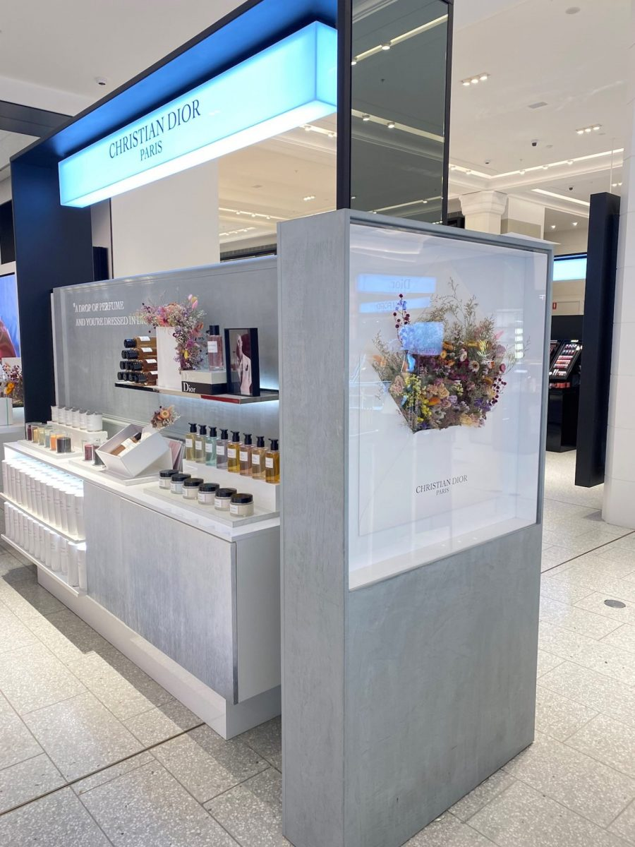 Luxury cosmetic retail styling at David Jones Sydney