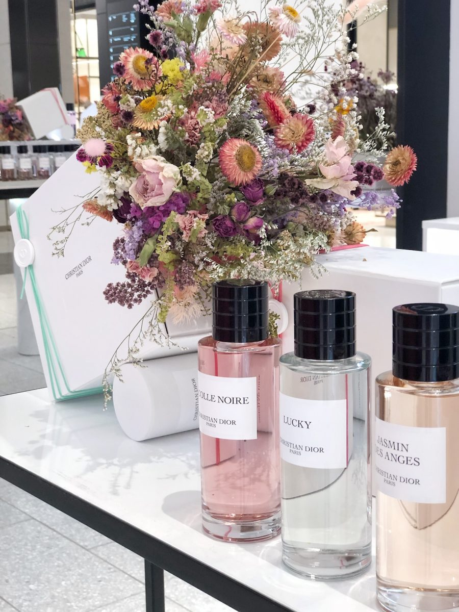 Parfum product styling at David Jones Sydney