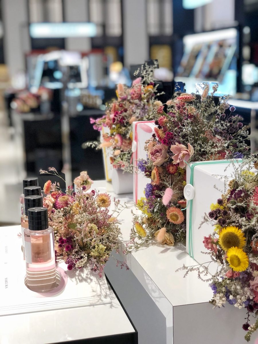 Floral styling at David Jones in Sydney