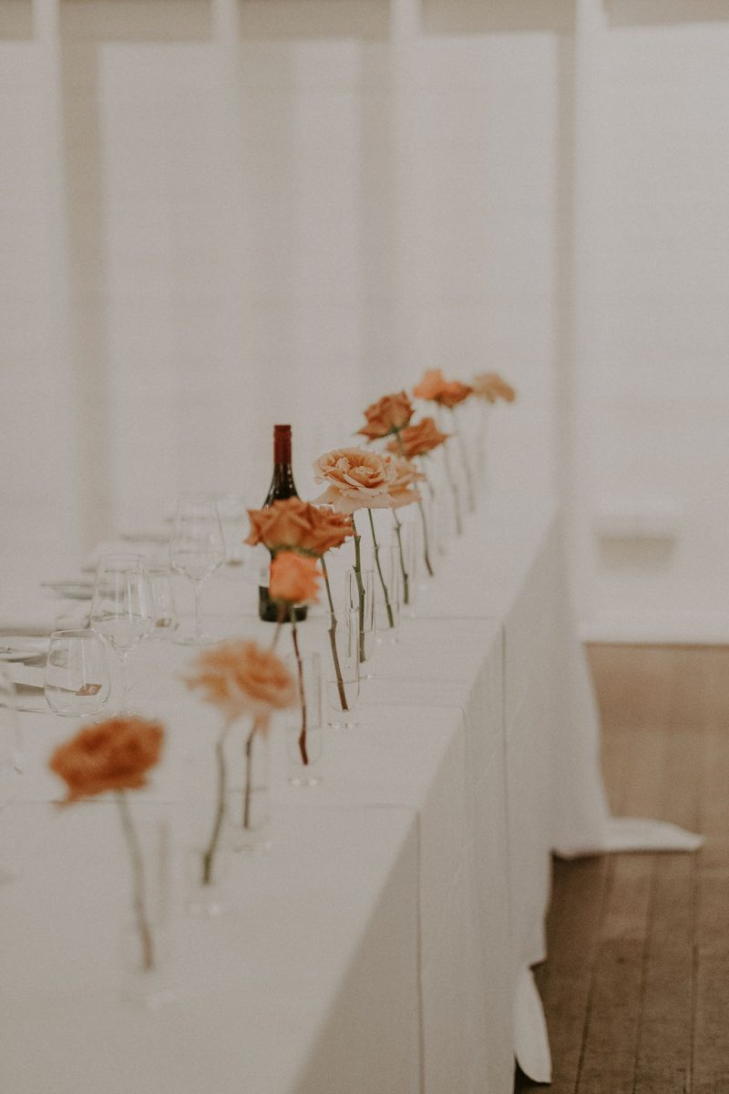 Simple table styling at Athol Hall wedding