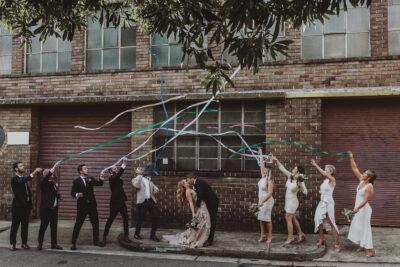Sydney wedding stylist Rainy Sunday creating a modern wedding celebration at Acre Eatery.