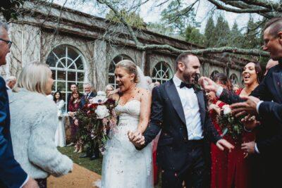 Romantic winter wedding at Milton Park styled by Rainy Sunday