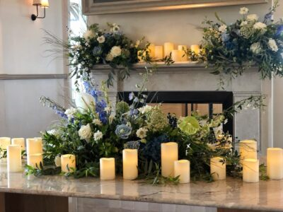 Event flowers at Woolwich Pier Hotel